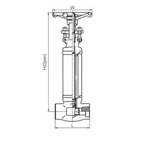 Bellow Sealed Gate Valves CL1500 LBS 2