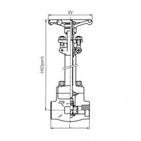 Cryogenic Gate Valves CL1500 LBS 1