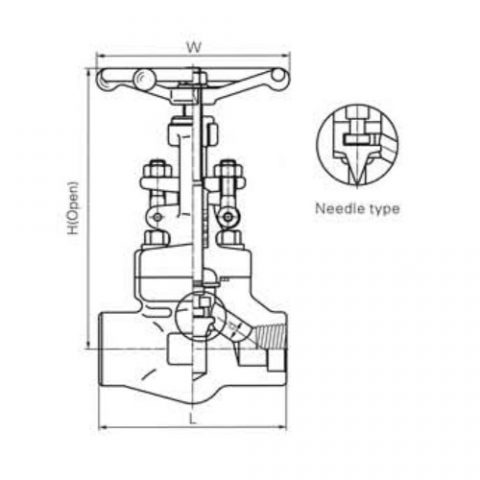 Female Threaded and Socket Welded Globe Valves CL800 LBS 1