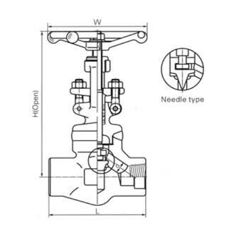 Female Threaded and Socket Welded Globe Valves CL800 LBS 2