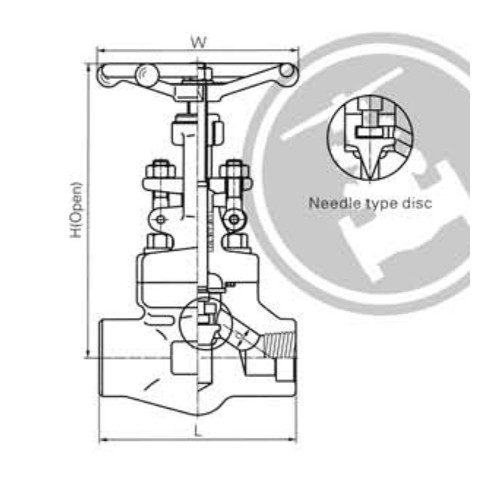 Female Threaded and Socket Welded Globe Valves CL900-CL1500 LBS 1
