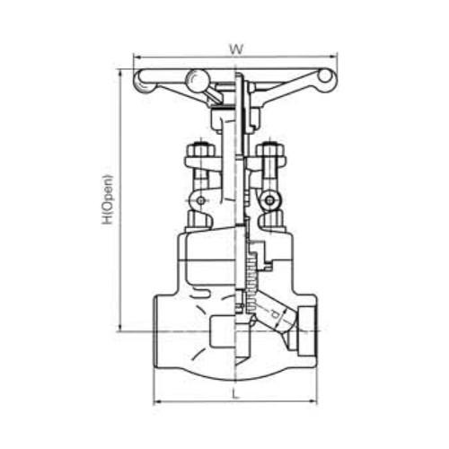 Short Pattern Bellow Sealed Globe Valves CL800 LBS 1
