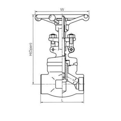 Short Pattern Bellow Sealed Globe Valves CL800 LBS 2